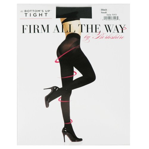 Berkshire Women's Firm All The Way Bottoms Up Tights 5053, Black, Small