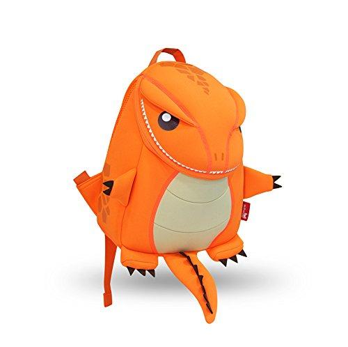 Coavas Kids Backpack - Funny Dinosaur Backpack Cute Orange - Gift For Toddlers