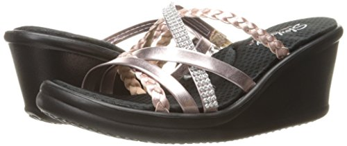 Skechers Cali Women's Rumblers-Social Butterfly Wedge Sandal,Rose Gold,7.5 M US by Skechers (Image #6)