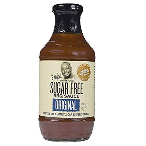 G Hughes Sauce Barbecue Original Sugar Free, 18 oz