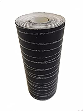 /cenefa de papel pintado dise/ño/ Negro con purpurina/ /10/M de largo x 17,6/cm de ancho