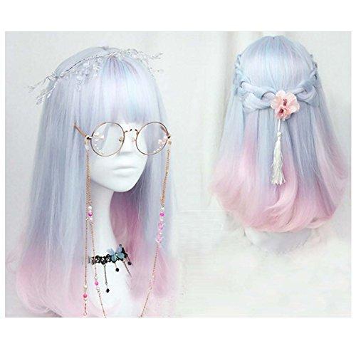 18 inch soft sister Light blue pink color gradient