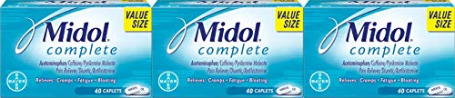 Midol Complete Menstrual Period Symptoms Relief Caplets, 120 Count