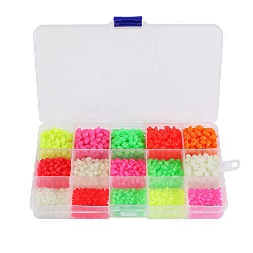 Jeemitery 1500PCS Glow Fishing Beads Eggs Plastic ()