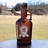 Deep Engraved, Personalized German Beer Growler, Not Cheap Screenprint!