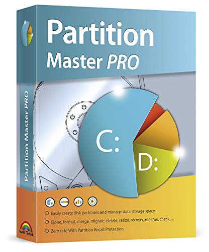 Partition Master PRO - HDD or SSD Cloning and Easily create disk partitions - with Dynamic Resizing for Windows 10, 8.1, 7