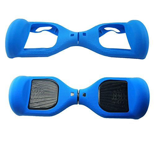 Case Cover Blue Protector (FBSPORT 6.5inch Silicone Scratch Protector Cover Case for 2 Wheels Self Balancing Electric Scooter)