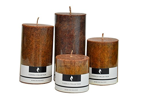 (Marigold Stores Decorative Aromatic Coffee Scented Candles/Pillar Candles/Candle Set Size 4.5