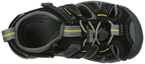 Keen Seacamp II CNX - Zapatillas de senderismo Unisex Niños Negro / Amarillo