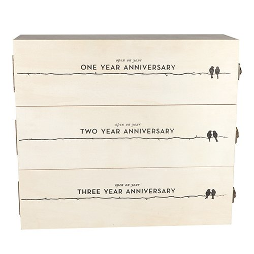(Twine 3029 Wine Box 3 bottle, White)