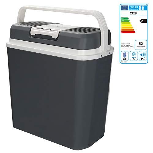 🥇 Hengda 24 litros Nevera Termoeléctrica Portátil Calor/Frío Mini Refrigerador Conexiones 12V&220V Nevera Portátil Eléctrica para Coche Viaje Camping