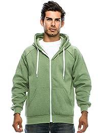 Mens Hipster Hip Hop Long Sleeve Fleece Zip-Up Hoodie Jacket (size up to 5XL)