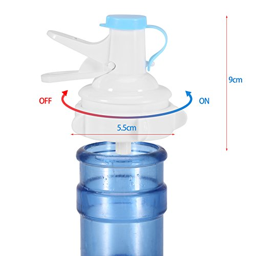 Drinking Water Pump,Acogedor Environmental PP Manual Water Bottle Pump with Anti-Dust Cap for Home and Travel Use by Acogedor (Image #6)