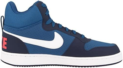 new styles 4ff09 94c4f Nike Men s Court Borough MID GymBlu Wht-Obsdian-SolarRed Basketball Shoes-6.  Loading images.