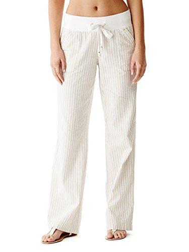 Linen Striped Drawstring Pants - 9