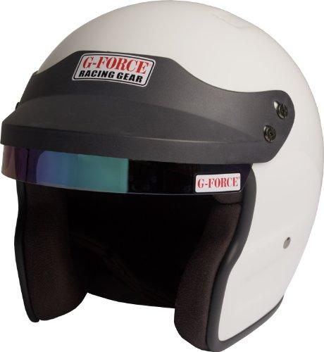G-Force 3021MEDWH Pro Phenom White Medium SA10 Open Face Racing Helmet