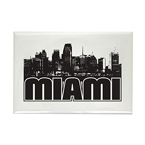 CafePress Miami Skyline Rectangle Magnet Rectangle Magnet, 2