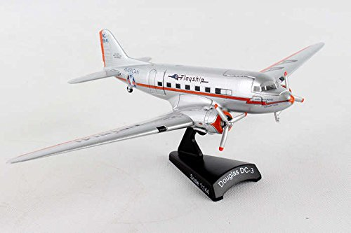 (Daron Postage Stamp PS5559-2 American Airlines Douglas DC-3 Flagship Tulsa 1:144 Scale Diecast Display Model With Stand)