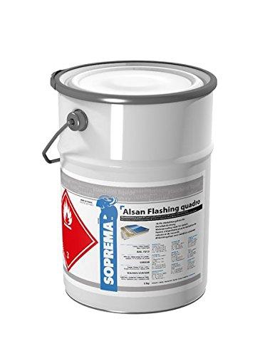 ALSAN Flashing Quadro - 5, 0kg/Gebinde - RAL 7040 fenstergrau - einkomponentiger Polyurethan Flü ssigkunststoff zur absolut sicheren Abdichtung und Herstellung von Details und Anschlü ssen im Flachdach SOPREMA GmbH