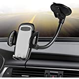 Windshield Car Phone Mount,Crazefoto Cell Phone Holder for Car, Long Arm Car Phone Mount Compatible with iPhone Xs/XS MAX/XR/X/8/7 Plus, Galaxy S5/S6/S7/S8/S9, Google, Huawei and More