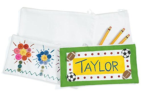 Colorations PENBAG Canvas Pencil Bags (Pack of 12)