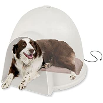 Amazon dogloo xt door large small animal houses pet supplies kh pet products lectro soft igloo style outdoor heated bed large tan 175 x eventshaper