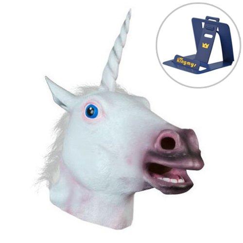Youareking® Halloween Creepy Adult Unicorn head latex Rubber Mask - Fancy Dress