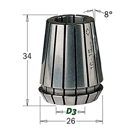 Frese Fraiser Pinza per Fresatrice Elastica ER.25 per Mandrino Porta Fresa CNC Professionali D3 3