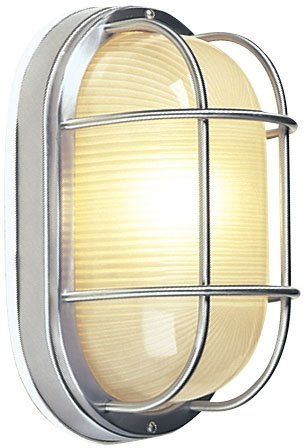 Craftmade Z397-56 Marine Light with Frosted Halophane Glass Shades, Stainless Steel Finish
