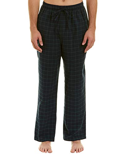 Brooks Brothers Mens Flannel Lounge Pant, S, Green