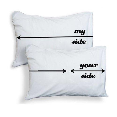 Kissenhülle, 2 pc, motif: mi lado/tu lado, 100% egipcio algodón Your side 25% on the right (as you look at the bed from the base) Talla:50 x 75cm Your side 25% on the right (as you look at the bed from the base)