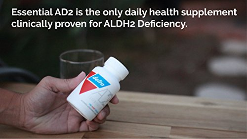 Essential AD2 - Patented & Clinically Proven for ALDH2 Deficiency and Alcohol Flush Reaction ('Asian Flush' Or 'Asian Glow') by Delta (Image #2)