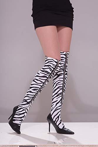 Forum Novelties 80's Punk Rock Zebra Zipper Thigh High Stocking Costume -