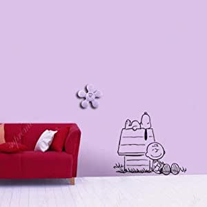Custom popdecals enjoying sunshine with snoopy beautiful tree wall decals for - Snoopy wallpaper for walls ...