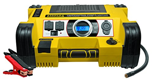 (STANLEY FATMAX PPRH7DS Professional Power Station Jump Starter: 1400 Peak/700 Instant Amps, 500W Inverter, 120 PSI Air Compressor, Battery Clamps)