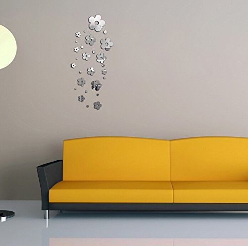 Acrylic stereo wall stickers wall stickers personality 14 little flower creative Crystal TV wall mirror wall stickers Christmas Halloween decorations-YU&XIN
