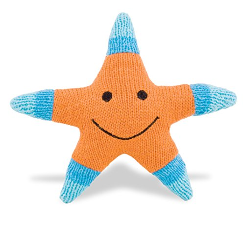 Rich Frog K'NIT Sea Creatures Starfish Stuffed Animal, Hand Knit Baby Cotton Yarn Toy - (Baby Sea Creatures)