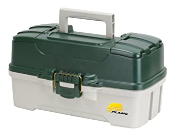 Plano 3-tray Tackle Box With Dual Top Access, Dark Green Metallicoff White 0