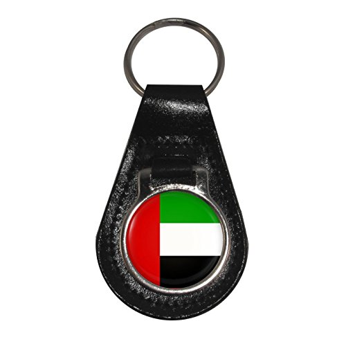 (United Arab Emirates Flag Design Leather Keyring)