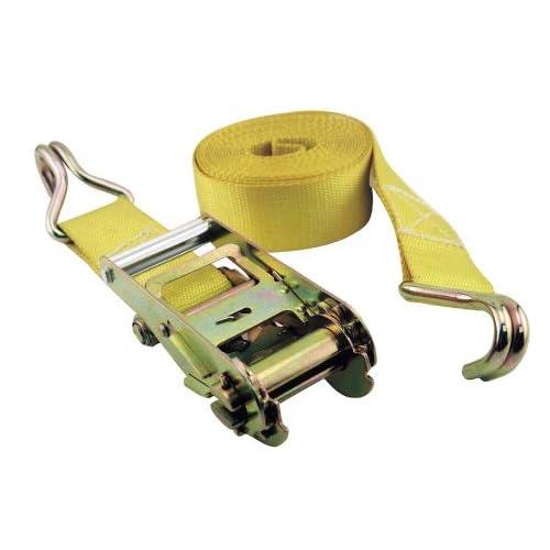 "Top Erickson 52300 Yellow 2"" x 15' Medium Duty Ratcheting Tie-Down Strap hot sale"