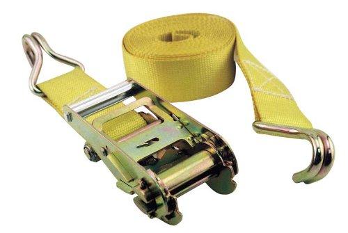 Erickson 52400 Yellow 2' x 25' Medium Duty Ratcheting Tie-Down Strap
