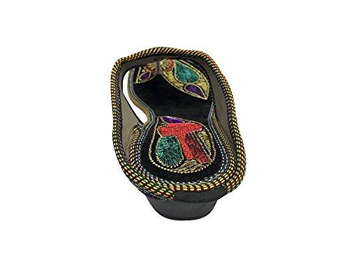 Step Style Punjabi Infradito Scarpe Jaipuri Jutti N Khussa Sandali Donne Piatto rB58xqwFrt