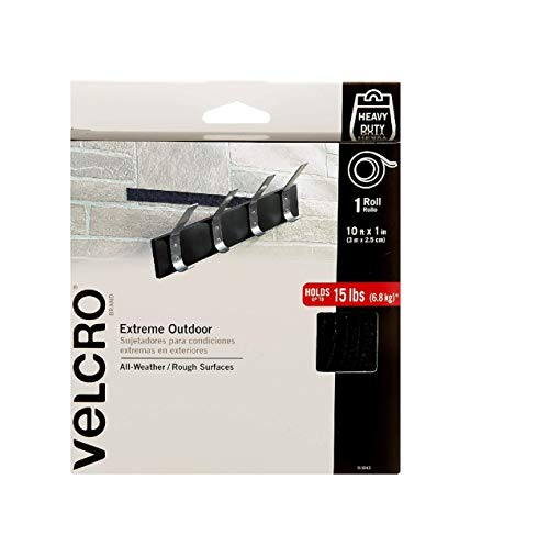VELCRO Brand Extreme Outdoor Heavy Duty Tape | 10Ft x 1 In | Holds 15 lbs | Black with Stick on Adhesive | Strong…