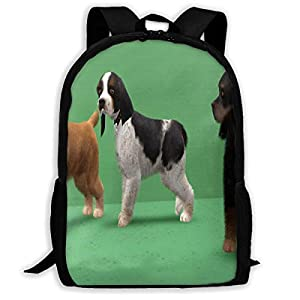 Backpack A Trio Of American Cocker Spaniels Unique Outdoor Shoulders Bag Fabric Backpacks Multipurpose Daypacks 17 Inch 1