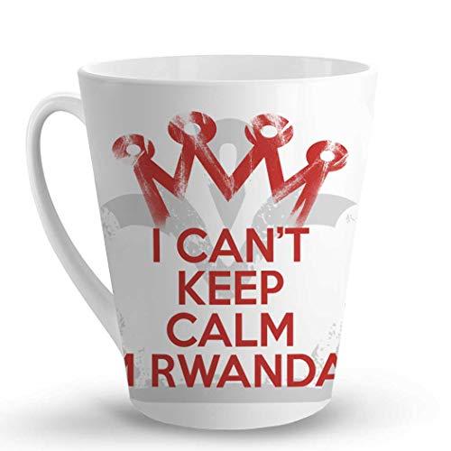 Makoroni - I CANT KEEP CALM I'M RWANDAN - 12 Oz. Unique LATTE MUG, Coffee Cup