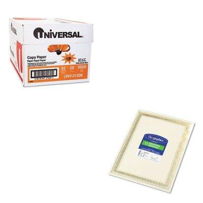 KITGEO45492UNV21200 - Value Kit - Geographics Foil Enhanced Certificates (GEO45492) and Universal Copy Paper (UNV21200)