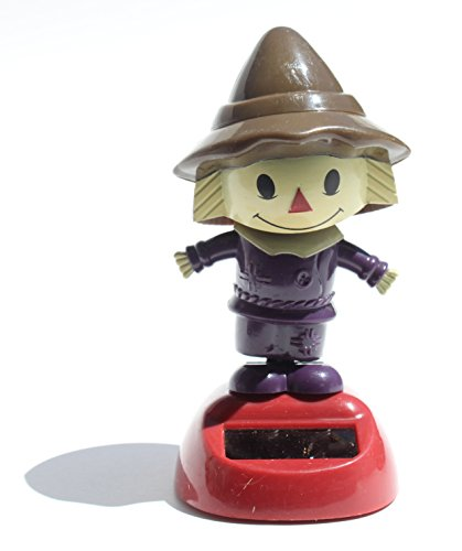 Scarecrow in a Purple Outfit Solar Toy Autumn