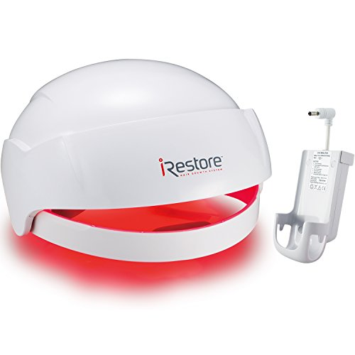iRestore Laser Hair Growth System + Rechargeable Battery Pack - FDA-Cleared Hair Loss Product - Treats Thinning Hair for Men & Women - Laser Hair Therapy Restores Hair Thickness, Volume, Density