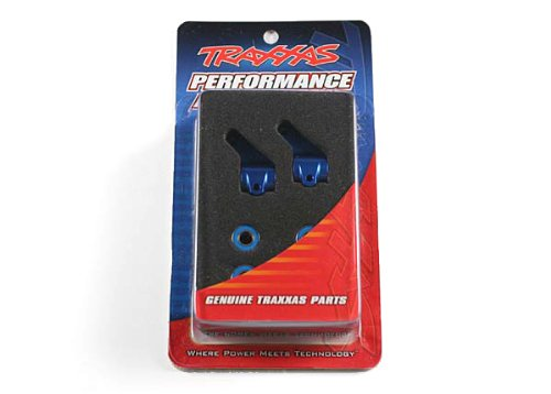 Traxxas 3636A Blue-Anodized 6061-T6 Aluminum Steering Blocks (pair) (Bushings Traxxas Bellcrank)