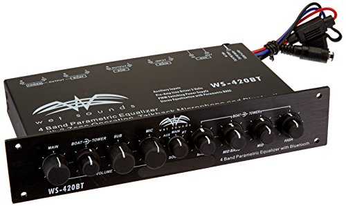 WS-420BT - Wet Sounds Marine Audio Multi Zone Equalizer with Integrated Bluetooth by Wet Sounds -